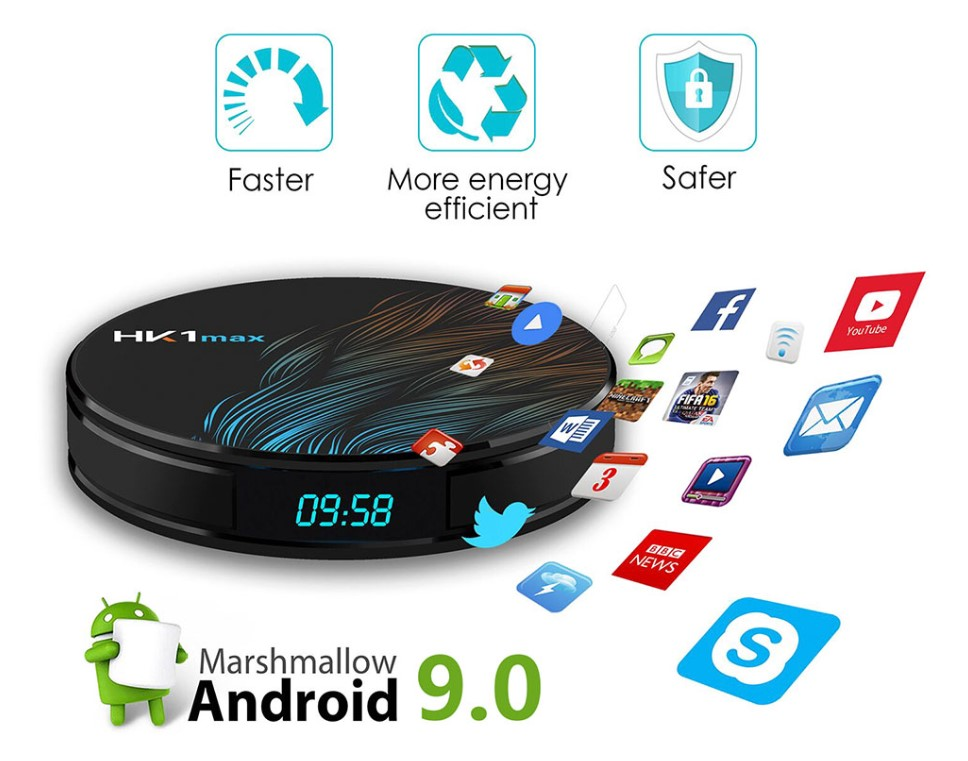 Peacock Feather Design Android TV Box