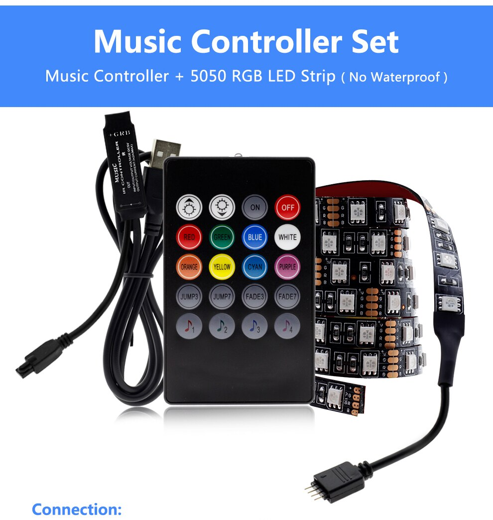 RGB Changeable USB LED Strip with Controller